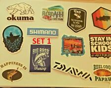 Fishing Stickers, Various, Sea, Fresh, Fly, World, Fishing Stickers