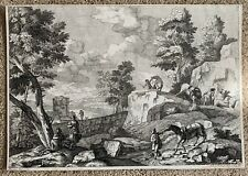18th C. Marco Ricci Giuliano Giampiccoli Italian Landscape Engraving Etching Art