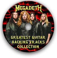 MEGADETH STYLE HEAVY METAL ROCK GUITAR MP3 BACKING JAM TRACKS CD