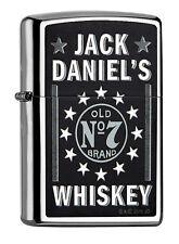 ZIPPO Feuerzeug JACK DANIELS OLD No 7 High Polished Chrome Whiskey NEU OVP