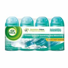 4 Air Wick Freshmatic Ultra Spray Refill Ocean Spray & Sparkling Sea Minerals