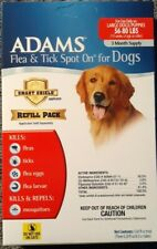 Adams Flea and Tick Spot On for Dogs (Large Dogs 56-80lbs) Refill Pack.