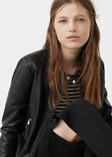 Ladies real leather zip  jacket new mango MNG size S UK 8,...