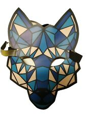 Cougar Rave Full-Face Mask Flashing Sound Activated Halloween Club Costume