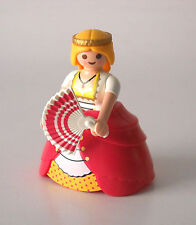 Playmobil Custom Castle Princess Victorian Lady in Pink w/ Hoop Skirt & Fan 4639