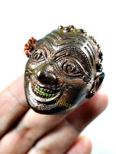 9981-THAI GANBLING AMULET RICHLY NAWA METAL HERMIT JOKER FACE CASINO LOTTO DENG
