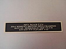 New listing Mo Martin Nameplate For A 2014 British Open Golf Flag Case Or Scorecard 1.5 X 6