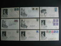Canada 9 artcraft cachet FDC first day covers, check them out!
