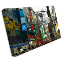 TOKYO Paisaje Urbano Lienzo Impreso Enmarcado Foto pared Trabajo Arte cit19