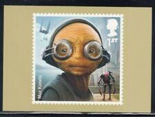 Great Britain Maz Kanata Star Wars Royal Mail Stamp Card