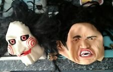 Latex SAW MASK With Hair Halloween Horror Jigsaw Wig & scorpion king mask scary