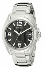 AUTHENTIC CITIZEN MEN'S SPORT STAINLESS STEEL ECO-DRIVE WATCH AW1430-86E
