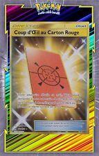Coup d'Oeil au Carton Rouge Secret - SL05 -169/156-Carte Pokemon Neuve Française