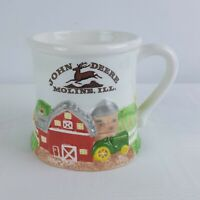 Vintage John Deere 3D Farm Coffee Tea Mug Cup Ceramic Tractors Barn MOLINE, IL