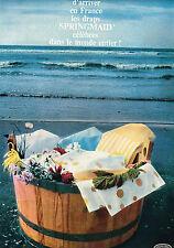 PUBLICITE ADVERTISING 114  1964  SPRINGMAD   draps linge maison ( 2p)