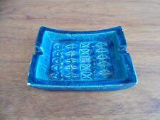 Mid century retro vintage Italy Bitossi ashtray ALDO LONDI Rimini Blue