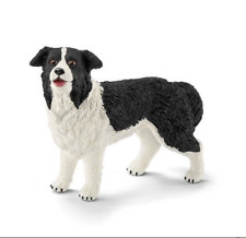 Border Collie Dog Figurine Black And White Pet Schleich Animal Toy Canine New