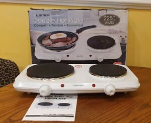 Lloytron Double Electric Table Top Hotplate 2250 Watts in Very Good Condition