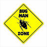 Bug Man Crossing Decal Zone Xing pesticide roaches trap bait kill termite