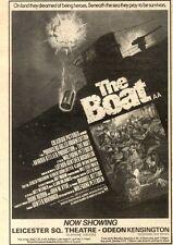 "10/4/82PGN24 MOVIE ADVERT 7X5"" THE BOAT (JURGEN PROCHNOW)"