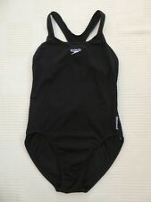"""Speedo Endurance black cut out/racer back swimming costume Bust 38"""" Size 16"""