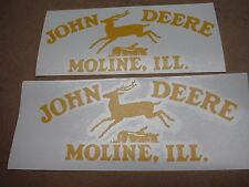 "JOHN DEERE "" LEAPING DEERE "" MOLINE, ILL.  DECALS. SET OF TWO (2). VINYL DIE CUT"