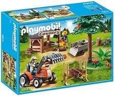 Playmobil 6814, Bûcheron avec Tracteur, NEUF, EMBALLAGE D'ORIGINE