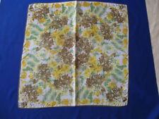 Vintage Vera Accent Scarf - Yellow and Green Floral  - Made in Japan