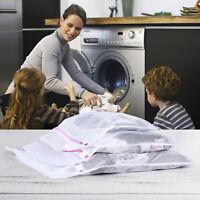 5x Laundry Mesh Zipper Wash Bag Nylon Net Clothes Underwear Bra Socks Three Size