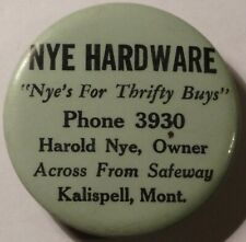 Kalispell Montana Harold NYE Hardware Advertising Whetstone Phone 3930