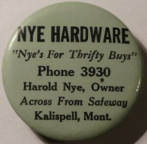 Kalispell Montana Harold NYE Hardware Advertising Whetstone Phone 3930