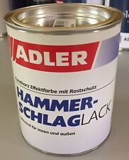 ADLER Hammerschlag-Aluminium-Effektlack für Metall u Holz 750 ml Ltr /€ 31,93