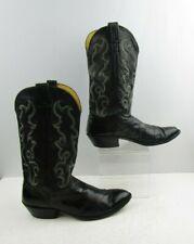 Men's Nocona Black Leather Western Cowboy Boots Size : 10.5 D