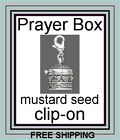 Prayer Box Jewelry Charm Silver Confirmation Baptism with Mustard Seeds