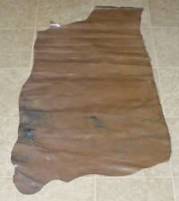 (Cbe10298) Part Hide of Light Brown Cow Leather Hide Skin
