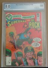 DC COMICS PRESENTS #10 WHITMAN PGX 8.0 VF, ow/w pages, extremely scarce, rare