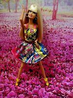 Barbie Doll, OOAK, Articulated Legs, Fully Dressed w/Pretty Dress-Earrings-Shoes