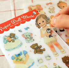 Kawaii Afrocat Paper Doll Mate Decoration Sticker