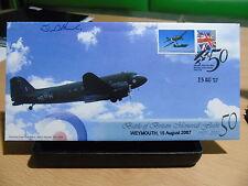 Álbum De Colección QC Bletchley Park GB cubre 2007 BBMF Dakota piloto firmado 2