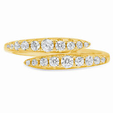 0.4ct Round Cut Wedding Bridal Solitaire Anniversary Band Solid 14k Yellow Gold