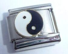 YIN YANG SYMBOL Italian Charm - Peace Harmony Love fits Classic Bracelets 9mm