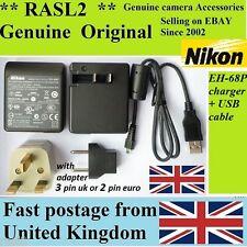 Original Nikon Eh-68p Ac Adaptador Cargador Coolpix S3000 S4000 S6000 S640 P100 S70