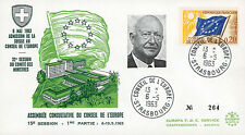 """CE15-IT2 FDC Council of Europe """"Adhesion Switzerland / PFLIMLIN, France"""" 05-1963"""
