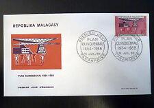 MADAGASCAR  448   PREMIER JOUR FDC       PLAN CONSTRUCTION      10F      1968