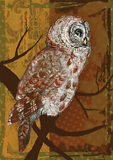 NEW TOLAND GARDEN FLAG THE NIGHT OWL SIZE 12.5 x 18 GREAT AUTUMN OR WINTER