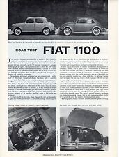 Fiat 1100 Road Test by Road & Track magazine June 1957 NOS