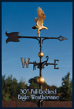 "Whitehall 30"" Eagle Weathervane Full-Bodied Gold-Bronze with Mount!"
