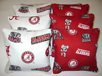 8 CORNHOLE BEAN BAG CORN HOLE ALABAMA CRIMSON TIDE