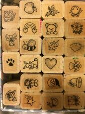 Hero Arts Mini Rubber Stamp Set of 36- Christmas Tree, Butterfly, Bee, Hearts
