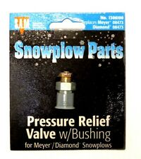 Pressure relief valve w/bushing, Snow Plow, Meyer 08743, part #1306100
